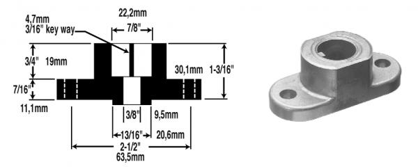 Unašeč nože MTD - 22,2mm