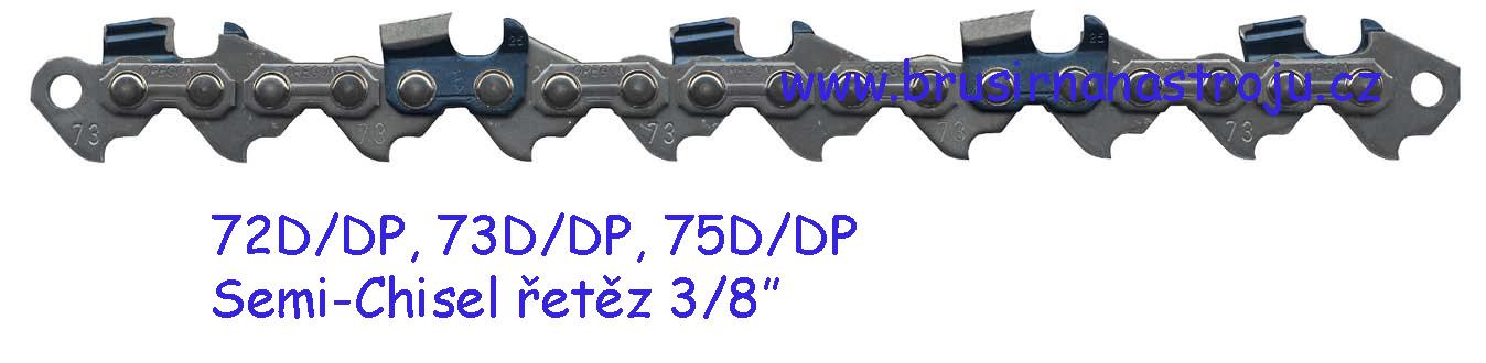 OREGON, pilový řetěz 3/8-1,5- 75 článků - 73DP